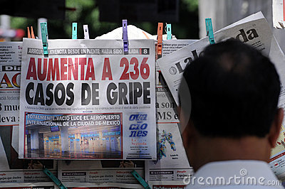 Influenza news in Mexico Editorial Photography