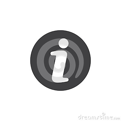 Free Info Flat Icon. Round Simple Button, Circular Vector Sign. Stock Photo - 95310740