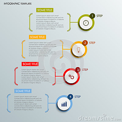 Info graphic with abstract round labels template Vector Illustration