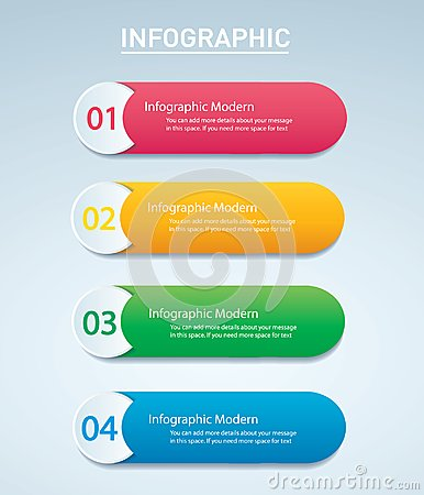 Free Info Graphic Vector Template With 4 Options.   Stock Photos - 103690753