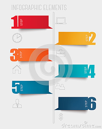 Info graphics banners with numbers and letters.