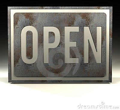 Info Sign open