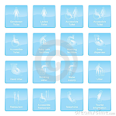 Info Symbols Blue