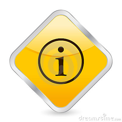 Info yellow square icon