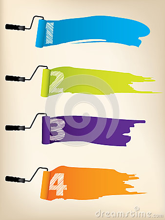 Free Infographic Background Design With Paint Rollers Royalty Free Stock Photography - 31428817