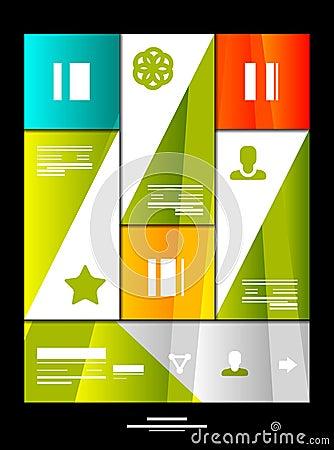 Infographic banner design elements