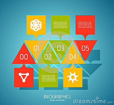 Infographic banner design elements, numbered lists