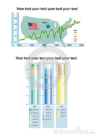 Infographic bar chart with text area