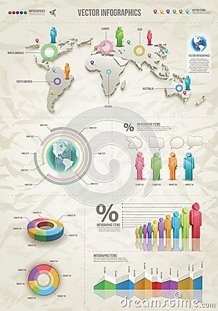 Free Infographic-Beige Stock Image - 25358931