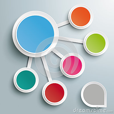 Free Infographic Big And 5 Small Circles PiAd Royalty Free Stock Image - 34676896