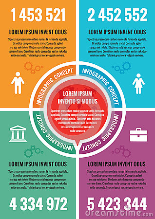 Infographic business concept - vector layout A4 format. Vector infographic template. Vector Illustration