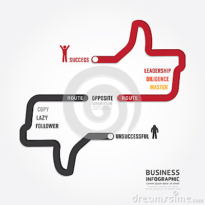 Free Infographic Bussiness. Route To Success Concept Template Design Royalty Free Stock Image - 42948656