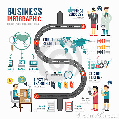 Free Infographic Bussiness Template Design . Concept Vector. Stock Photo - 42716280