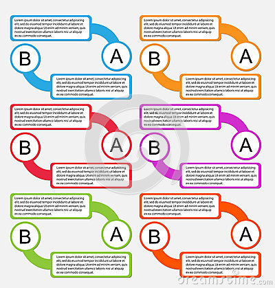 Infographic colorful label paper