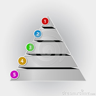 Free Infographic Concept Pyramid Chart Royalty Free Stock Image - 39006896