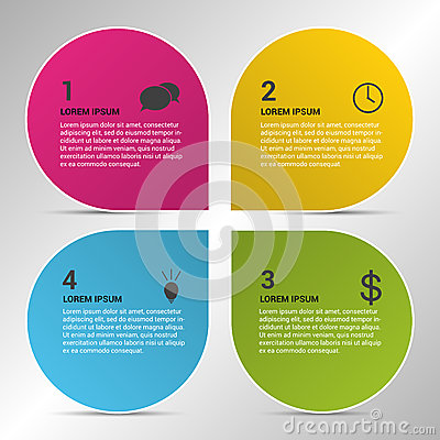 Free Infographic Design Circles On The Grey Background Stock Photo - 44177330