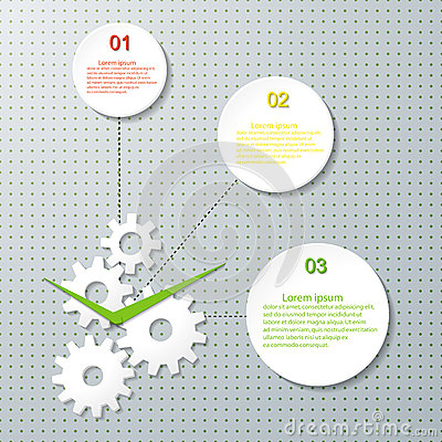 Infographic Design Template with cogwheel.