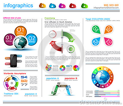 Infographic Design Template With Cloud Concept Royalty Free Stock ...