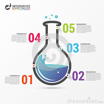Infographic design template. Science lab concept. Vector Vector Illustration