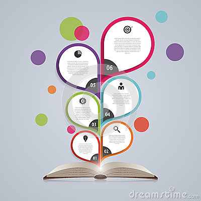 Free Infographic Design Template With Book. Abstract Tree. Vector Illustration Royalty Free Stock Photography - 59140727