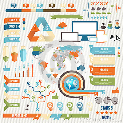 Infographic Elements and Communication Concept
