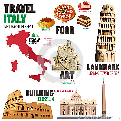 Free Infographic Elements For Traveling To Italy Stock Image - 50614521
