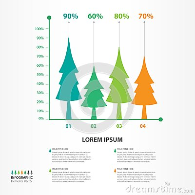 Free Infographic Elements Vector For Business, Tree Icon, Brochure Flyer Template, Presentation, Web, Banner Design, Chart, Timeline Stock Images - 116485324