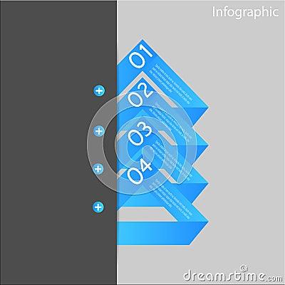 Infographic-Fahnen-Gestaltungselemente