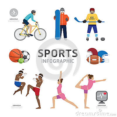 Free Infographic Health Sport And Wellness Flat Icons Template Design Royalty Free Stock Photos - 44970148