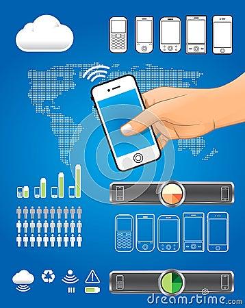 Infographic  mobile set