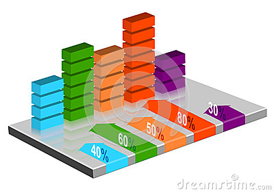 INFOGRAPHIC presentation template graph pie