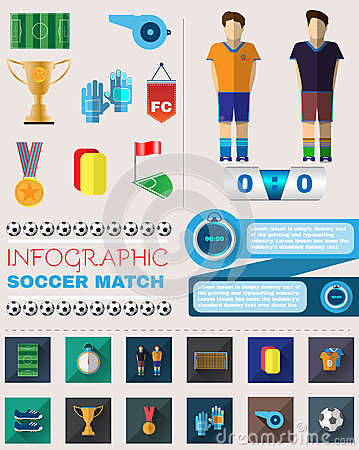 Infographic Ideas infographic soccer : Soccer Match Infographic Stock Vector - Image: 41651605