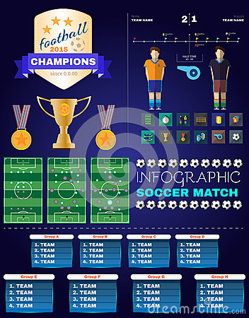Infographic Ideas infographic soccer : Soccer Infographic Stock Photo - Image: 28679490