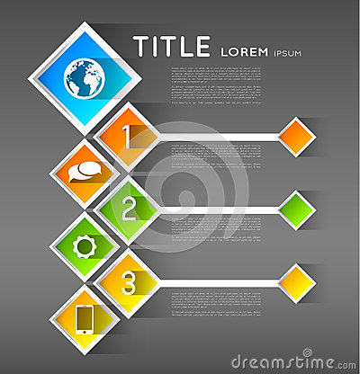Infographic template banners, squares