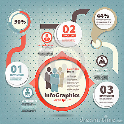 Infographic template for business design team
