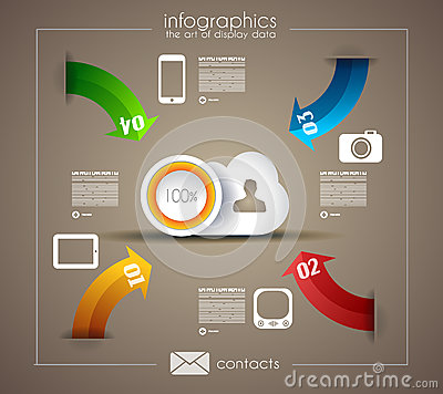 Infographic template for statistic data visualizat