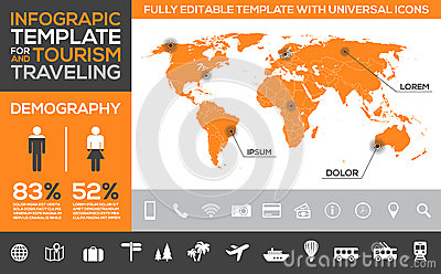 Infographic Template For Tourism, Traveling And Holiday Transport ...