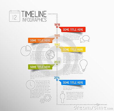 Free Infographic Timeline Report Template Royalty Free Stock Photo - 39473545
