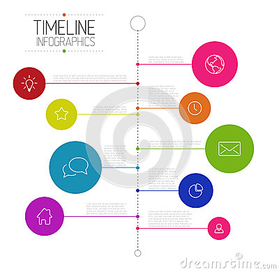 pr timeline template - infographic timeline report template stock vector image
