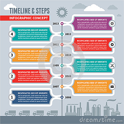 Free Infographic Vector Concept - Timeline & Steps Stock Photo - 33599390
