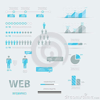 Infographic web business icon set vector EPS10