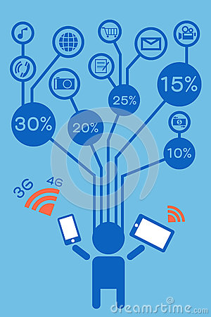 Free Infographic With Internet-communication Icon Royalty Free Stock Image - 31838006