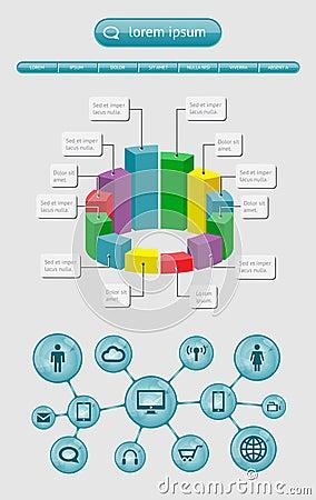 Infographics и элементы сети