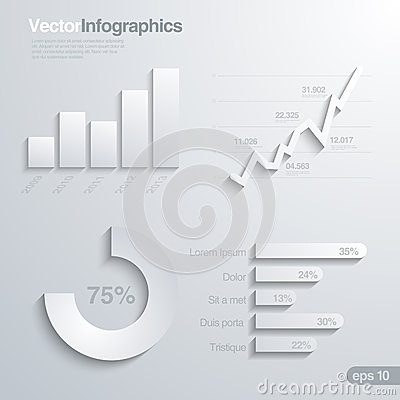 Infographics design elements vector template.