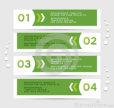 Free Infographics Design With Green Banners Stock Photography - 31702692