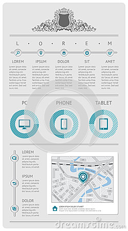 Infographics ed elementi di Web