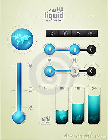 Infographics element on water