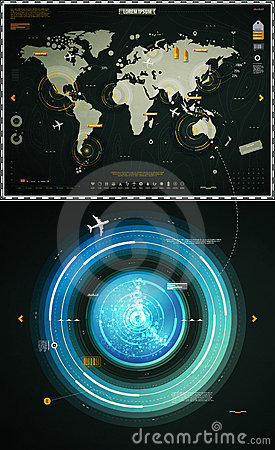 Infographics elements of the world map