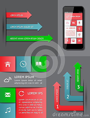 Infographics et éléments de Web