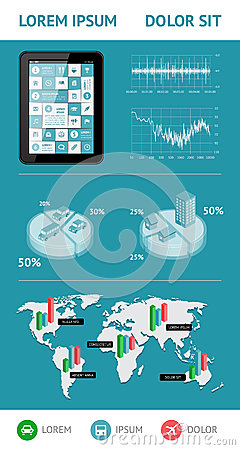 Infographics i sieć elementy